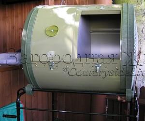 Вращающийся контейнер (емкость, устройство) для быстрого приготовления компоста своими руками
