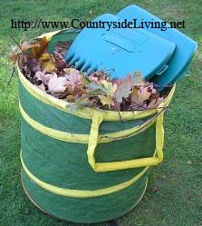 Корзина и ручное приспособление для сбора листьев