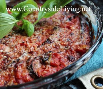Рецепт баклажанов с мясом в духовке с сыром