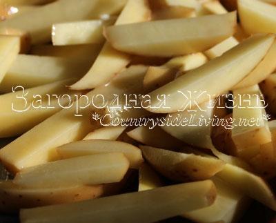 Картошка фри в духовке. Рецепт, фото