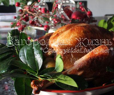 Рождественская индейка готова. Запеченная в духовке маринованная индейка - самая сочная и вкусная