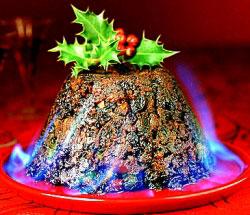 Падуб-остролист - традиционное украшение рождественского пудинга в Англии