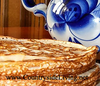 Мамины блины на кефире или сыворотке с содой